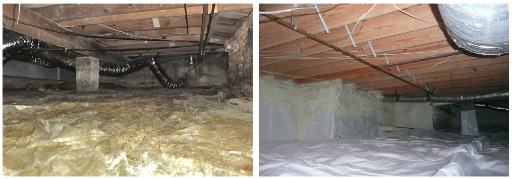 Before and After Crawlspaces in a Nashville TN Home
