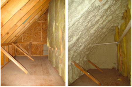 attic spay insulation